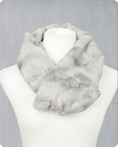 Infinity Scarf Cuddle® Kit Hide Silver
