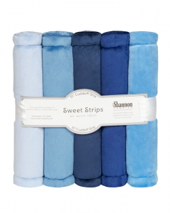 "FIVE 10"" x 60"" Cuddle® Strips Denim"