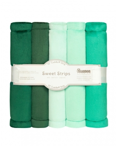 "FIVE 10"" x 60"" Cuddle® Strips Green"