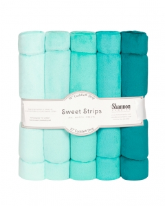 "FIVE 10"" x 60"" Cuddle® Strips Ocean"