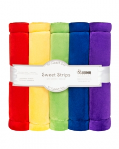 "FIVE 10"" x 60"" Cuddle® Strips Rainbow"