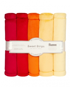 "FIVE 10"" x 60"" Cuddle® Strips Sunset"