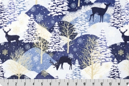 Midnight Deer Digital Cuddle® Navy