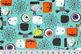 Monster Mash Digital Cuddle® Teal