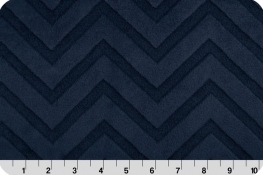 Embossed Chevron Cuddle® Navy