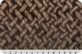Faux Fur Promo Herringbone Ivory/Brown