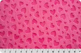 Embossed Heart Cuddle® Fuchsia