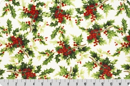 Hoffman Holiday Berries Digital Cuddle® White/Gold