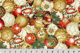 Hoffman Holiday Ornaments Digital Cuddle® Gold