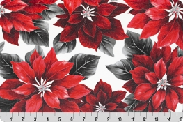 Hoffman Holiday Red Poinsettia Digital Cuddle® Silver