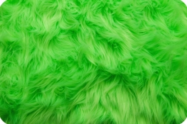 Luxury Shag Fur Neon Green