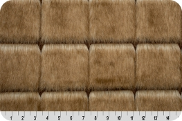 Promotional Luxury Faux Fur Mink Check Caramel