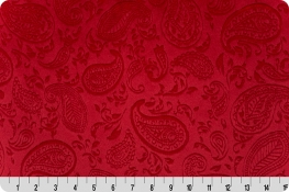 Embossed Paisley Vine Cuddle® Red