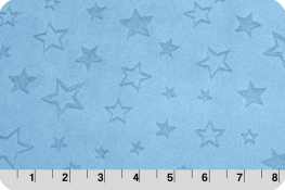 Embossed Star Cuddle® Baby Blue