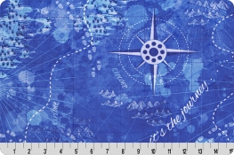 Quilters Trek World Digital Cuddle® Blue