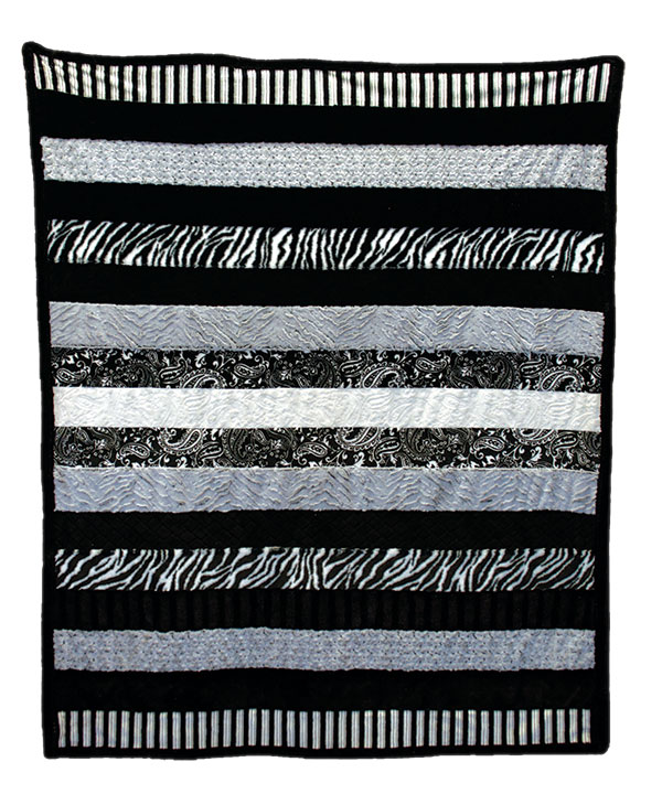 Cuddle Quilt KIt Black/White Zebra