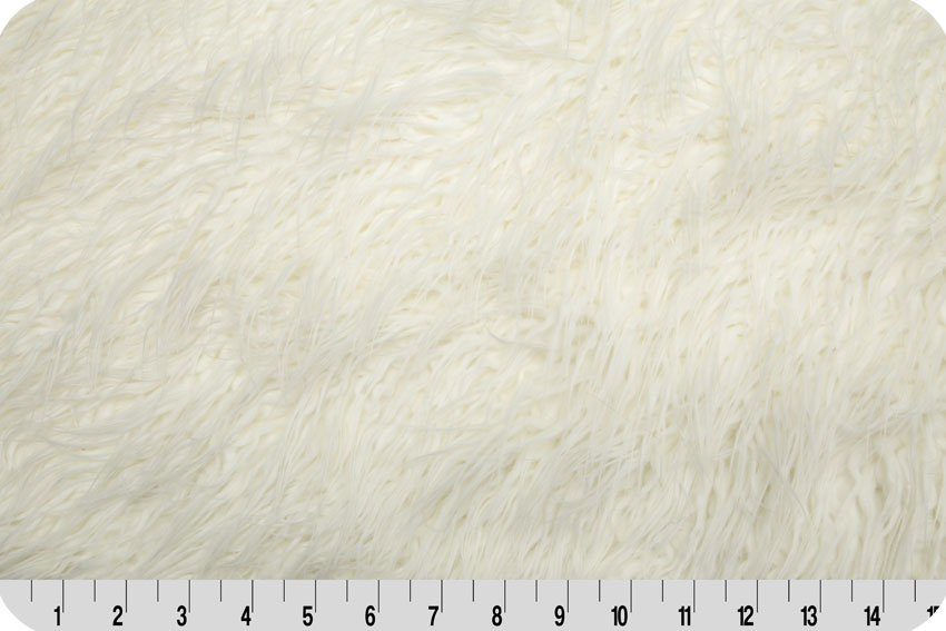 Curly Mongolian Faux Fur White