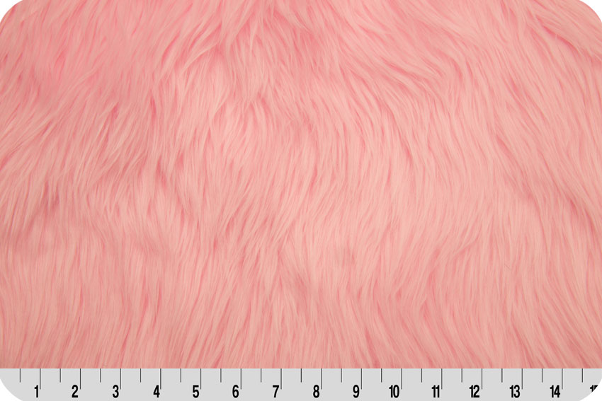 Luxury Shag Fur Baby Pink