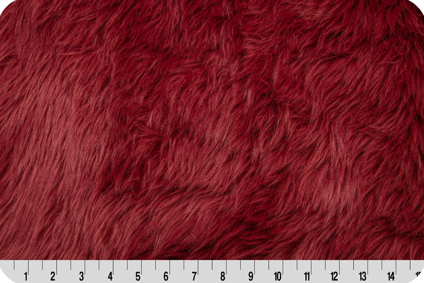 Luxury Shag Fur Burgundy