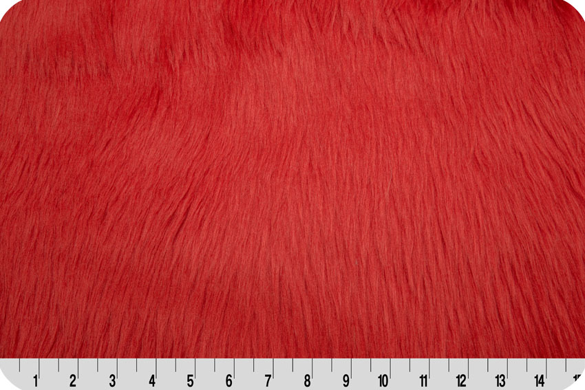 Luxury Shag Fur Fire Red