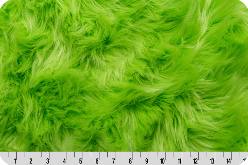 Luxury Shag Fur Lime