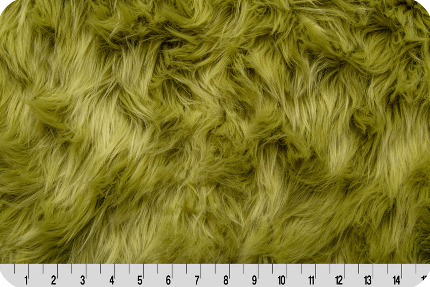 Luxury Shag Fur Olive