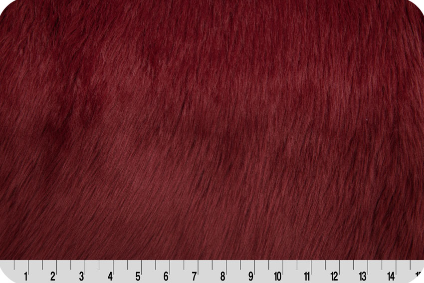 Luxury Shag Maroon