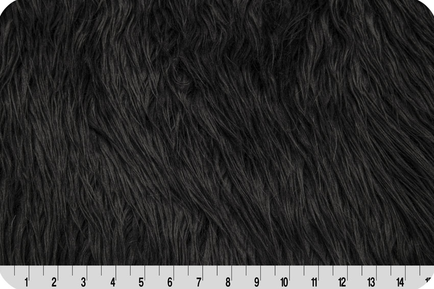 Mongolian Faux Fur Black
