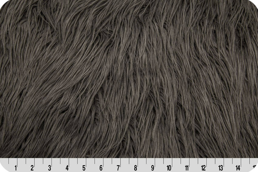 Mongolian Faux Fur Charcoal