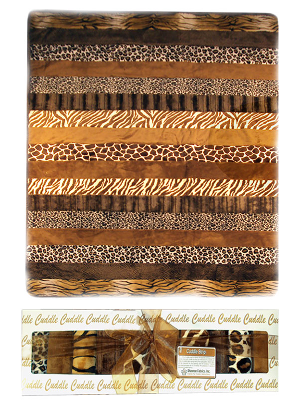 Cuddle Quilt Kit Animal Brown