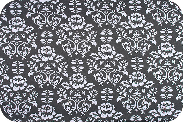 Victorian Damask Black/White