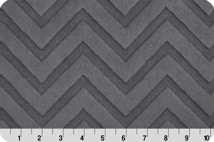 Embossed Chevron Cuddle® Charcoal