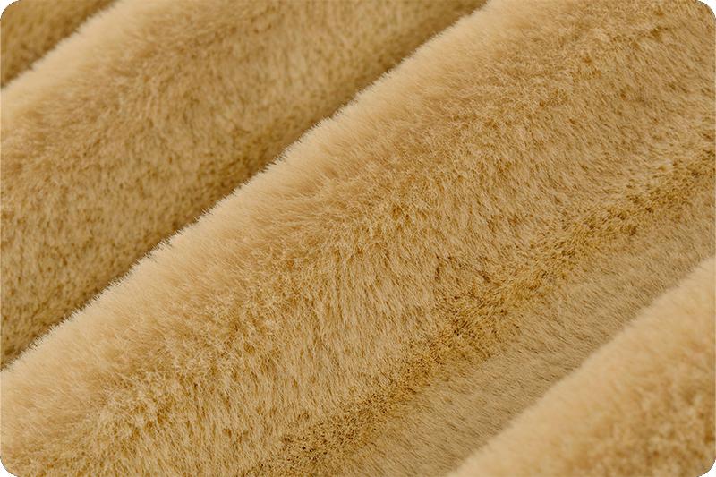 LONG PILE SAND BROWN Super Luxury Faux Fur Fabric Material