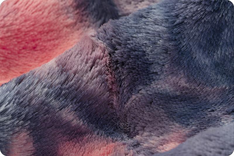 GORGEOUS PLUSH Daybreak Luxe Tie Dye Minky Fabric By The Yard Shannon Luxe Cuddle Sorbet DayBreak Minky Tie Dye Coral Blue Purple